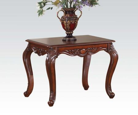 Acme Furniture 10241 Birmingham Series Traditional Wood Rectangular End Table