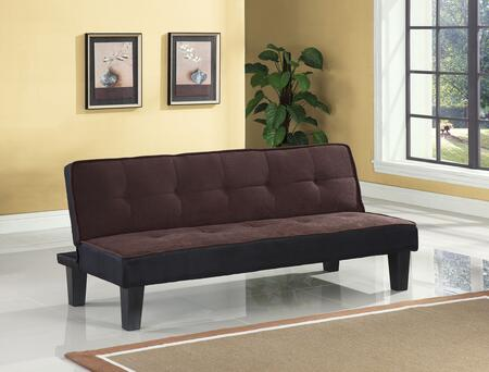 """Acme Furniture Hamar Collection 66"""" Adjustable Sofa with Tapered Legs, Converts to Bed, Wooden Frame Construction and Flannel Fabric Upholstery in"""