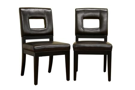 Wholesale Interiors Y-765 Faustino Series Leather Dining Chair in