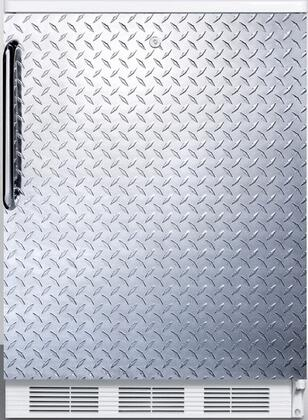 """AccuCold FF6LBI7 34"""" FF6BI7 Series Medical, Commercially Listed Freestanding or Built In Compact Refrigerator with 5.5 cu. ft. Capacity, Front Door Lock, Interior Light, Crisper and Automatic Defrost:"""