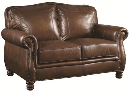Coaster 503982 Montbrook Series Leather Stationary with Wood Frame Loveseat