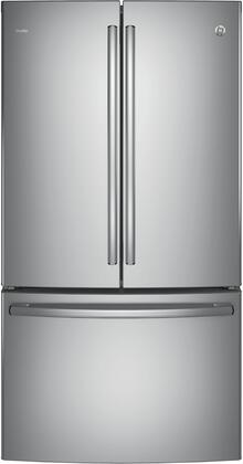 """GE Profile PWE23K 36"""" Energy Star Counter Depth French Door Refrigerator with 23.1 cu. ft. Capacity, Internal Water Dispenser, TwinChill Evaporator and Showcase LED Lighting:"""
