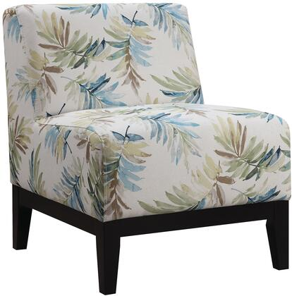 Coaster 902614 Accent Seating Series Armless Fabric Wood Frame Accent Chair