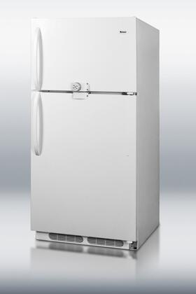 "Summit CTR15LLF2 28""  Refrigerator with 14.8 cu. ft. Capacity in White"