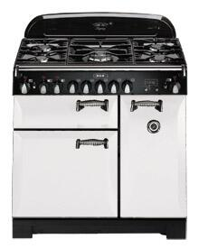 AGA ALEG44EWHT Legacy Series Electric Freestanding Range with Smoothtop Cooktop, 2.2 cu. ft. Primary Oven Capacity, Storage in White