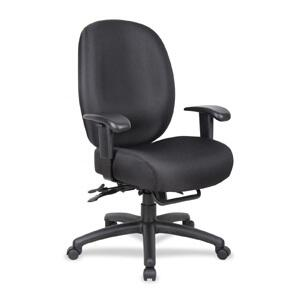 Boss ADID34-SS Aaria Dido Black Multi Function Task Chair with 4 Paddle Mechanism with Seat Slider