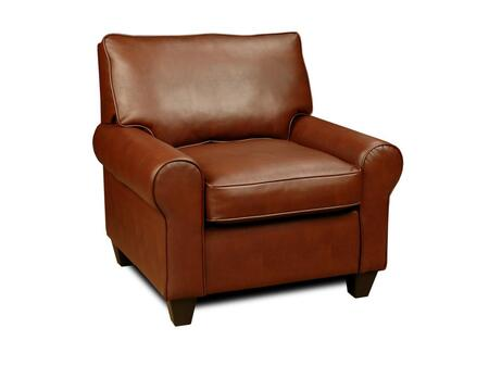 Chelsea Home Furniture 36C Arthur Series Armchair Bonded Leather Wood Frame Accent Chair
