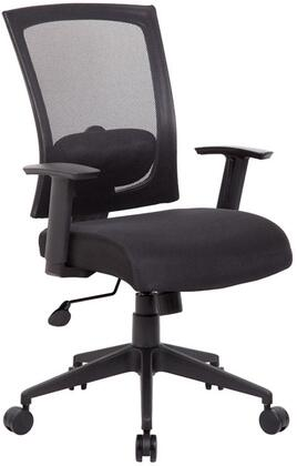 """Boss B6706 38"""" Contemporary Task Chair with Mesh Back, Adjustable Height Armrests, Lumbar Support, Spring Tilt Mechanism, Gas Lift Seat Height Adjustment, and Adjustable Titlt Tension Control"""