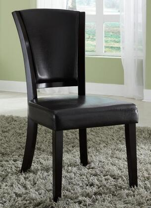 Coaster 103682BRN Dining 1036 Series Casual Vinyl Wood Frame Dining Room Chair