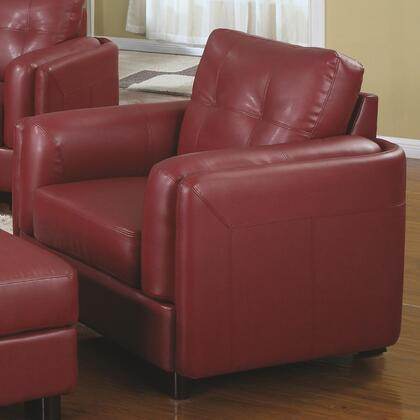 Coaster 504473 Sawyer Series Bonded Leather with Wood Frame in Red with Ottoman Included