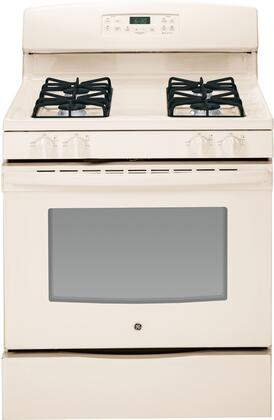 """GE JGB630 30"""" Free-Standing Gas Range With 5.0 Cu. Ft. Oven Capacity, 4 Sealed Cooktop Burners, Precise Simmer Burner, In-Oven Broil, Self Clean, Storage Drawer, 2 Oven Racks, In"""