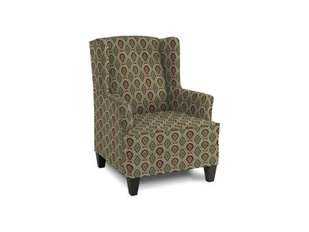"Bassett Furniture Wingate Collection 1130-02/BEx 31"" Accent Chair with Fabric Upholstery, Tapered Legs, Wingback and Contemporary Style in"