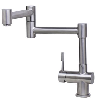 Alfi AB2038-X Retractable Single Hole Kitchen Faucet with Stainless Steel, one handed control valve and Certified by cUPC in