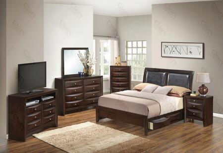 Glory Furniture G1525DDTSB2DMNCHTV2 G1525 Twin Bedroom Sets