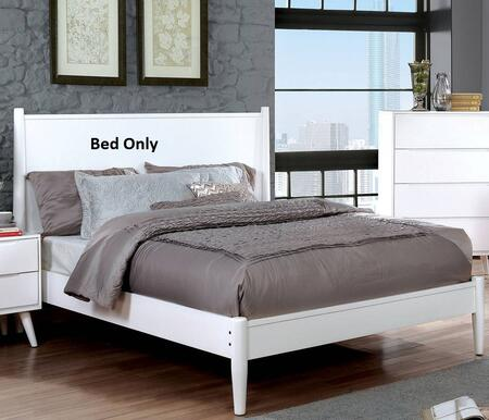 Furniture of America CM7386WHQBED Lennart II Series  Queen Size Panel Bed