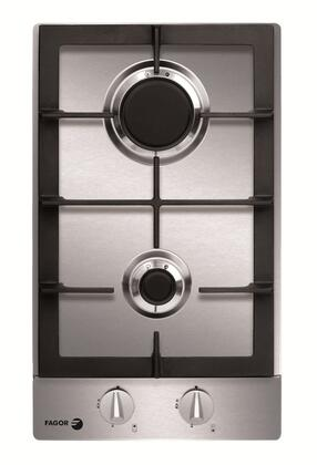 "Fagor FA320SX 12"" Gas Sealed Burner Style Cooktop, in Stainless Steel"