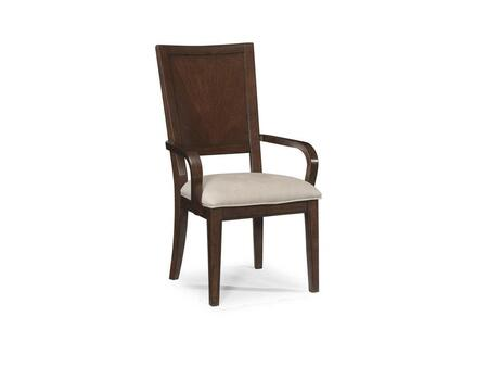 Klaussner 445905 Eclipse Series Contemporary Fabric Wood Frame Dining Room Chair
