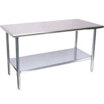 "Turbo Air TS X 30"" X 34"" Work Table with Backsplash"