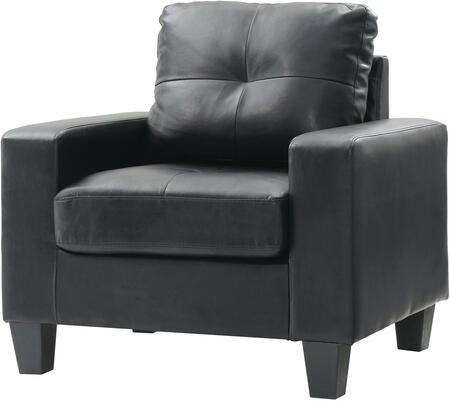 Glory Furniture G463AC Newbury Series Faux Leather Armchair in Black