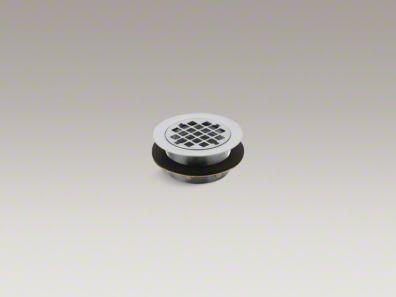 Kohler K9132 Round Shower Drain For Use With Plastic pipe, Gasket Included, In