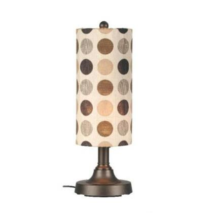 Patio Living Concepts 0028 Coronado Outdoor Table Lamp Fabric and Body Color Choice, Weatherproof, Two Level Dimming Switch, In