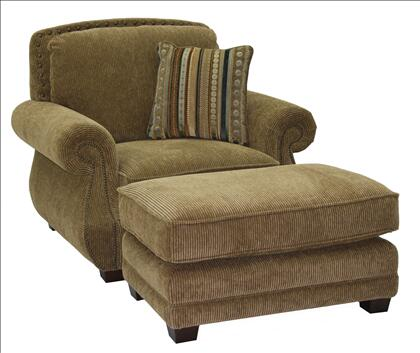 Jackson Furniture 450801 Fabric Armchair with Wood/Steel Frame in Burlap
