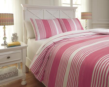 Milo Italia Shaunda Collection C23313TMF 3 PC Full Size Duvet Cover Set includes 1 Duvet Cover and 2 Standard Shams with Striped Design, 200 Thread Count and Cotton Material in Color