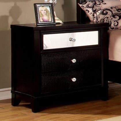 Furniture of America Bryant CM7288NX Night Stand with Modern Style, Full Extension Drawers, Felt-Lined Top Drawer, Solid Wood, Wood Veneer and Others