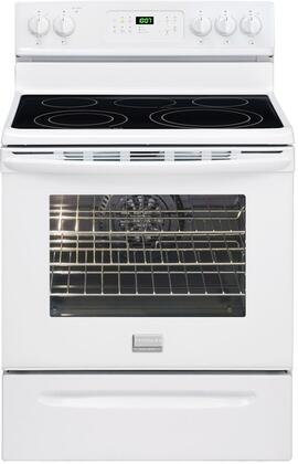 Frigidaire FGEF3032MW Gallery Series Electric Freestanding Range with Smoothtop Cooktop, 5.7 cu. ft. Primary Oven Capacity, Storage in White
