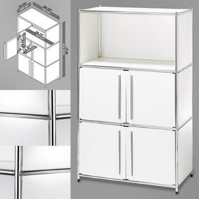 Infinita 814495012444  Metal 3 Shelves Bookcase