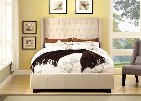 Furniture of America CM7055IVCKBED Mira II Series  California King Size Bed