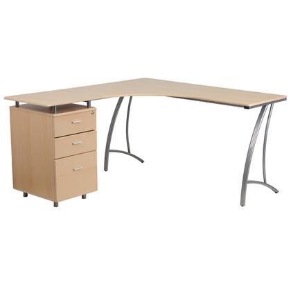 Beech Laminate L  Desk