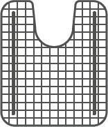 Franke KBXX-36S Bottom Grid for KBX Series Sinks in Uncoated Stainless Steel