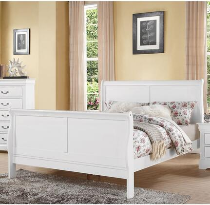 Acme Furniture 24510F Louis Philippe III Series  Full Size Sleigh Bed