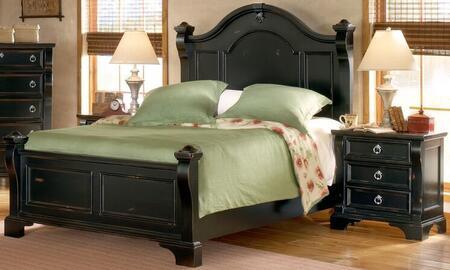 American Woodcrafters Heirloom Black 2 Piece Queen Size Bedroom Set