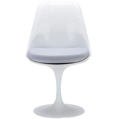 EdgeMod EM106GRY Daisy Series Modern Fabric Plastic Frame Dining Room Chair