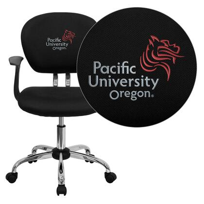 """Flash Furniture H2376FBKARMS41059EMBGG 23.5"""" Contemporary Office Chair"""