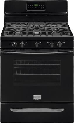 "Frigidaire FGGF3035R 30"" Gallery Series Gas Range with 5 cu. ft. Oven Capacity, 5 Top Burners, True Convection System, Quick Bake Convection, One-Touch Quick Self Clean and Continuous Grates in"