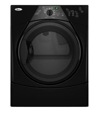 Whirlpool WED8300SB Duet Series Electric Dryer, in Black