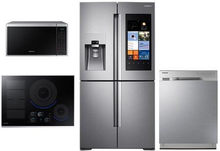 Samsung Appliance SAM4PCFSFDFCSSKIT1 Kitchen Appliance Packa