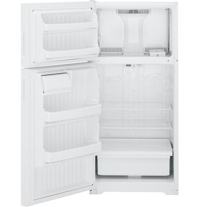 Hotpoint HTR16ABSLWW Freestanding Counter Depth Top Freezer Refrigerator with 15.6 cu. ft. Total Capacity 2 Wire Shelves 4.1 cu. ft. Freezer Capacity