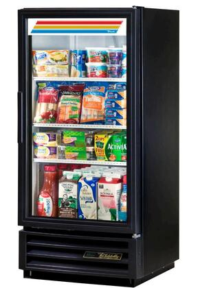 True GDM-10 10 Cu. Ft. Glass Door Merchandiser with Hydrocarbon Refrigerant, LED Lighting, and Thermal Insulated Glass Swing-Doors