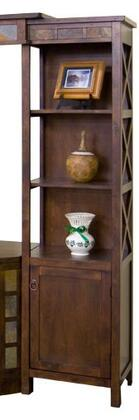 Sunny Designs 3416DCPRSanta Fe Series Wood 1-2 Shelves Bookcase