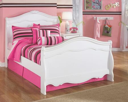 Milo Italia BR-274SLBED Woodard Collection Size Sleigh Bed: White