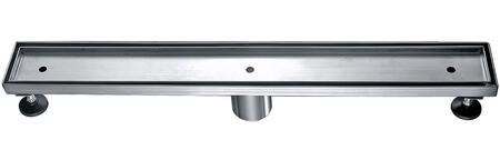 """Alfi ABLD24X 24"""" Long Modern Linear Shower Drain with Stainless Steel, 2 Drain and Contemporary Design in Stainless Steel"""