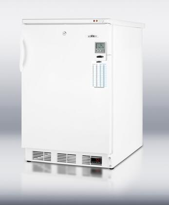 """Summit VT65MLBIMEDDT 24"""" Medical Series  Counter Depth Freezer with 3.2 cu. ft. Capacity in White"""