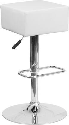 Flash Furniture CH820584WHGG Residential Vinyl Upholstered Bar Stool