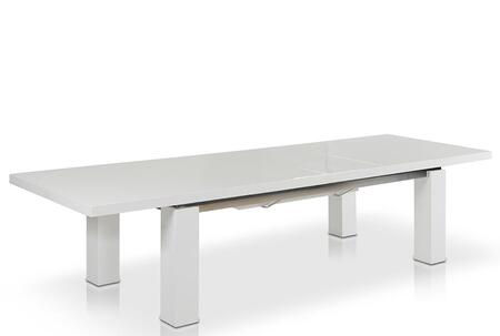 """VIG Furniture VIGMAXI Modrest Maxi 87"""" Rectangular Extendable Dining Table with Two-Tier Leaf Extension in"""