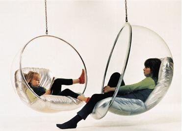 Fine Mod Imports FMI1122 Acrylic & Chrome Plated Bubble Hanging Chair: