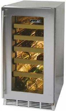"Perlick HP15WO3RDNU 14.875"" Freestanding Wine Cooler, in Stainless Steel"
